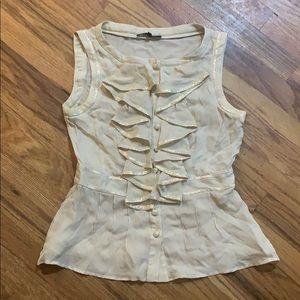 Nanette Lepore silk peplum blouse